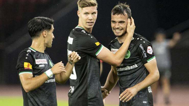 Victor Ruiz, Cedric Itten und Jérémy Guillemenot dürfen sich über den ungefährdeten Sieg in Zürich freuen