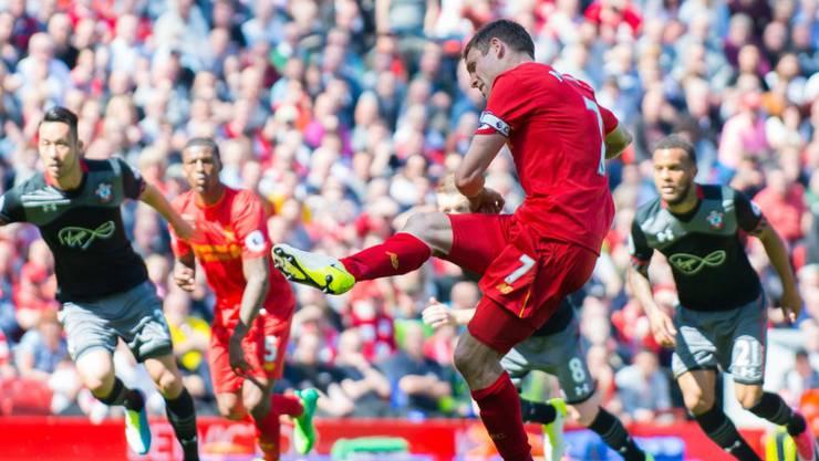Verschoss einen Penalty: Liverpools James Milner