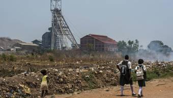 Blick auf die Mopani Copper Mines in Sambia.