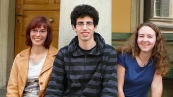 Erfolgreiche Jungforscher: Milena Marbacher, Fabian Byland, Sarah Lais (v.l.)  (Bild: rs)