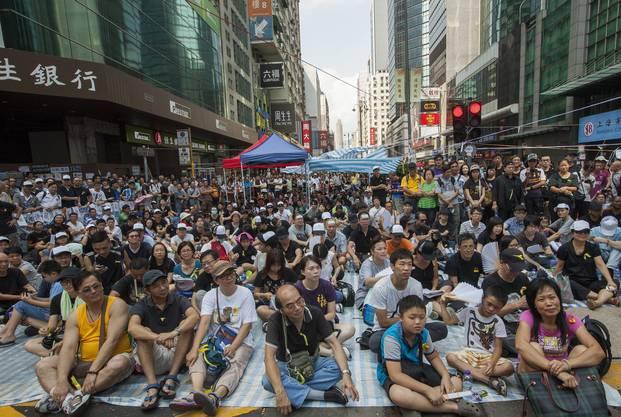 Wieder versammelten sich Tausende in den Strassen Hongkongs