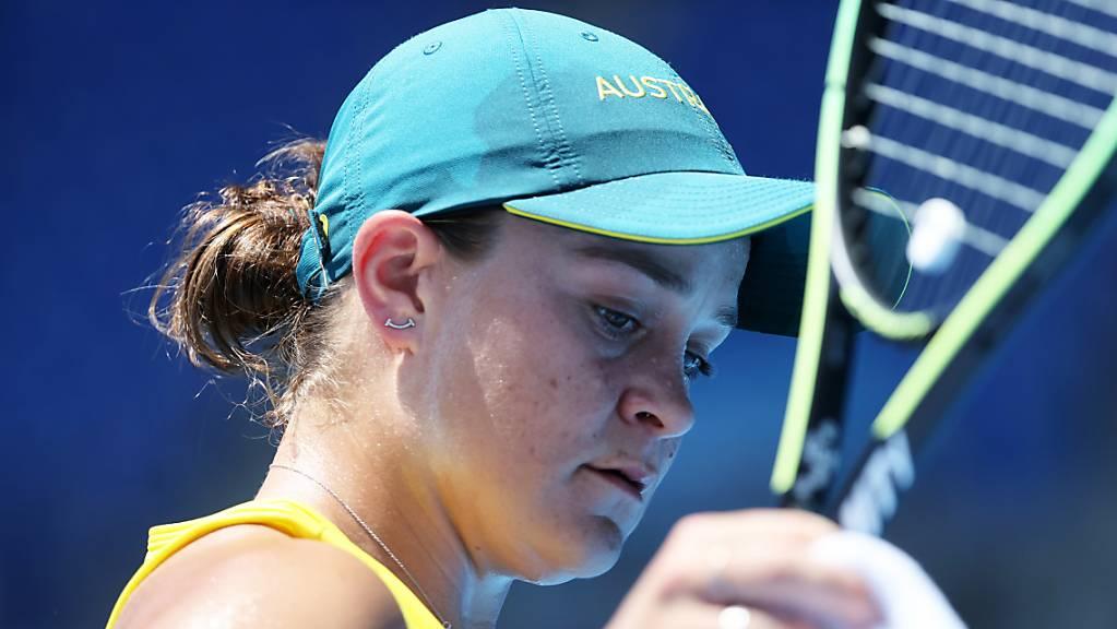 Endstation 1. Runde für Wimbledon-Siegerin und Weltrangliste-Erste Ashleigh Barty aus Australien.