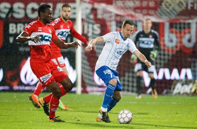 Bryan Verboom (links) spielt in den nächsten Tagen im Brügglifeld vor und informiert sich seinerseits über Arbeits- und Lebensumfeld beim FC Aarau.