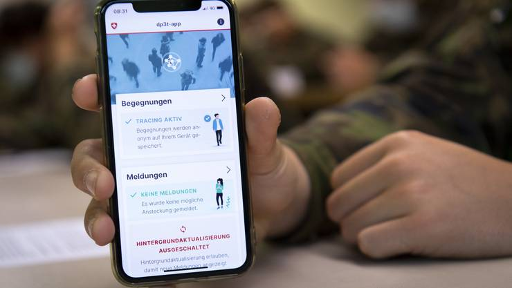 So sieht die offizielle Tracing-App der Schweiz aus.