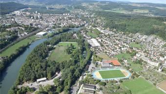 Windisch (links) und Brugg sind praktisch zusammengewachsen und zunehmend auch für Zuzüger aus Zürich interessant. MHU/Archiv AZ