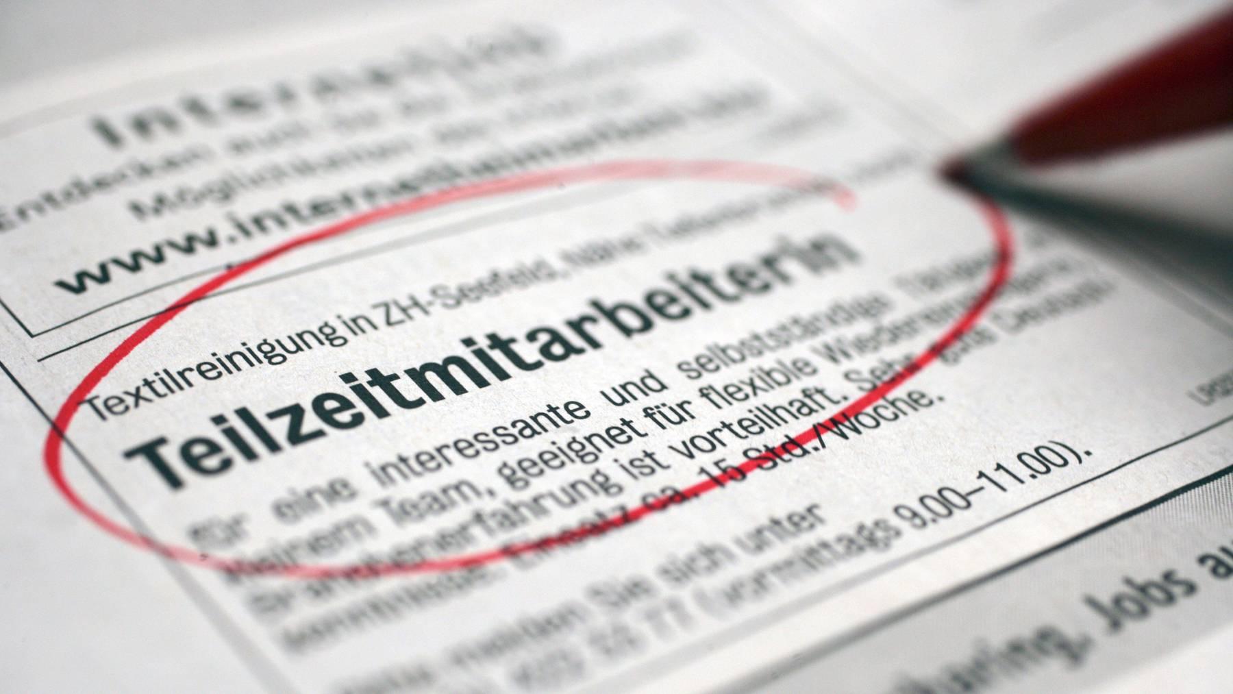 In der Schweiz haben die meisten erwerbstätigen Frauen ein Teilzeitpensum. (Symbolbild)