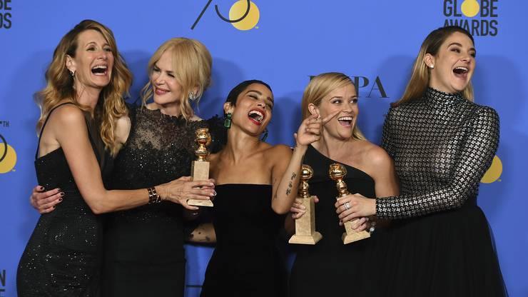 Von links nach rechts: Laura Dern, Nicole Kidman, Zoe Kravitz, Reese Witherspoon und Shailene Woodley.