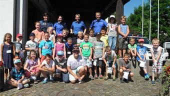 Im Ferienspass-Programm der Region Frick können Kinder Einblicke in die Arbeit der Regional- und Kantonspolizei erhalten.