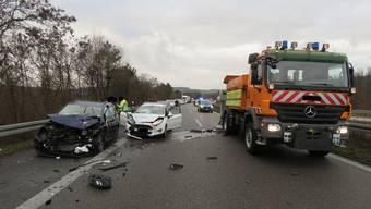 Der Unfall ereignete sich erneut kurz vor der Schweizer Grenze.