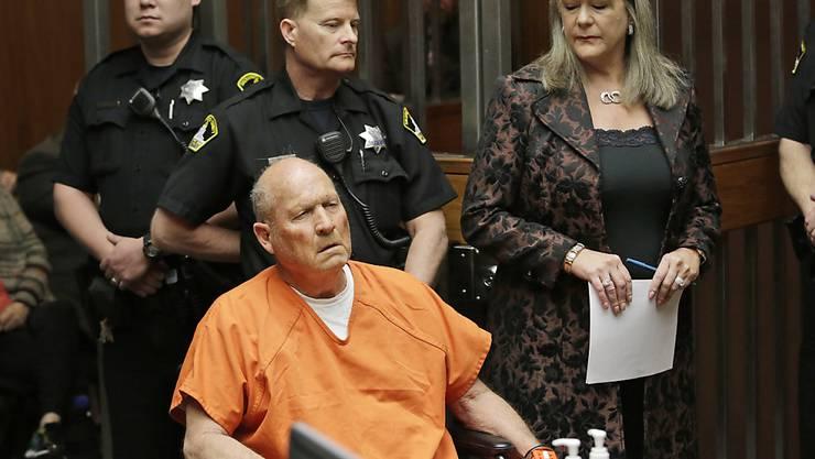 """War am Freitag erstmals vor dem Richter: der mutmassliche """"Golden State Killer"""", der in Kalifornien für mindestens zwölf Morde und über 45 Vergewaltigungen verantwortlich sein soll."""