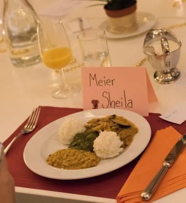 Das Menu: verschiedene Indische Gerichte