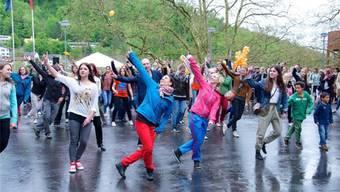 Im letzten Jahr machten zwei- bis dreihundert Tanzbegeisterte am DanceMob mit.