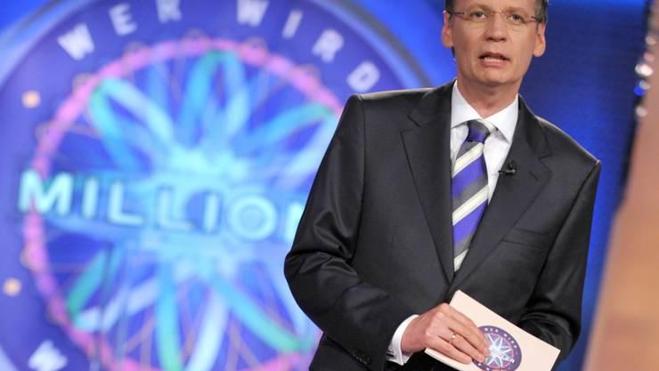 """In der Rateshow """"Wer wird Millionär?"""" mit Günther Jauch (Archivbild) hat ein Teilnehmer alle Fragen richtig beantwortet und sich zum Millionär gemacht."""