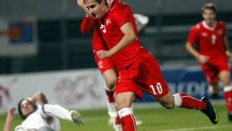 Mario Gavranovic feiert seinen Treffer zum 1:0