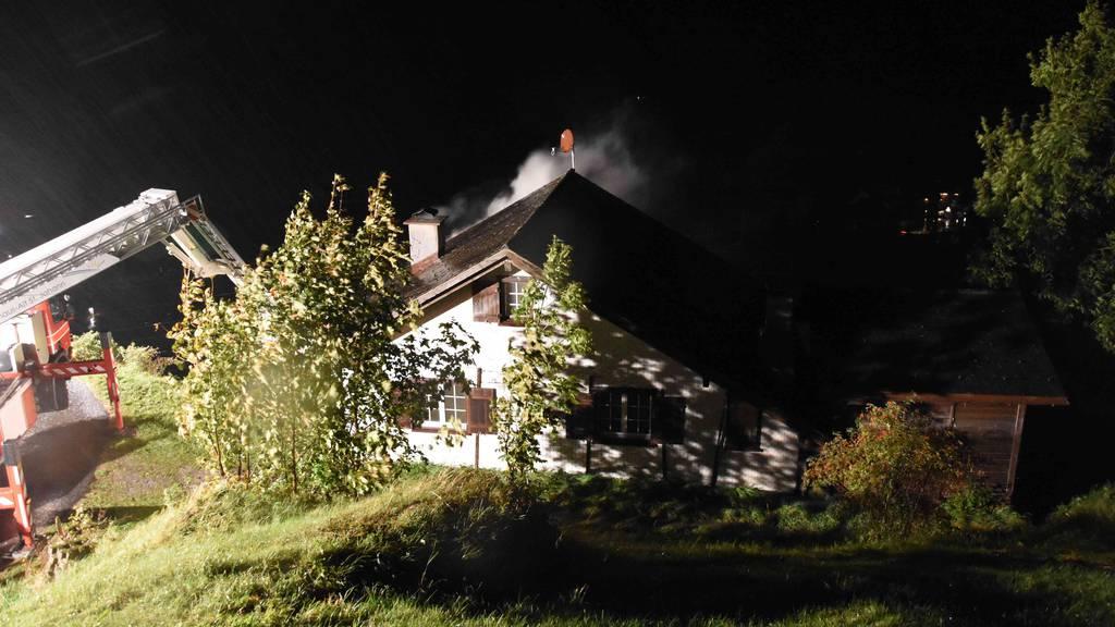 Zwei Verletzte bei Brand im Ferienhaus