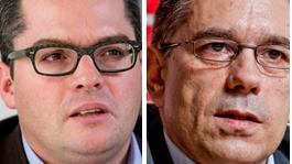 Roger Huber (FDP) und Markus Schneider (CVP)