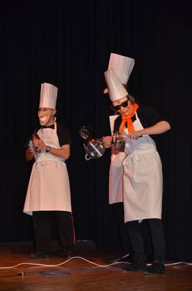 Die Tambouren mit perkussiver Kochkunst.