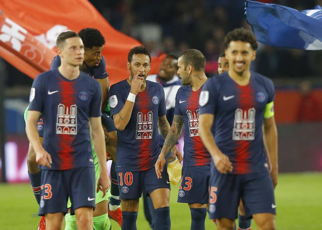 Paris Saint-Germain wusste bereits vor dem Spiel, dass sie den Meistertitel im Sack haben (© Keystone)