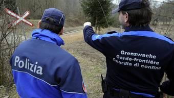 Grenzwächter im Tessin (Archiv)