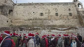 Tausende Pilger zieht es an Weihnachten zur Geburtskirche in Bethlehem.