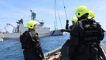 Im Bild: Die isländische Küstenwache im Frontex-Einsatz.