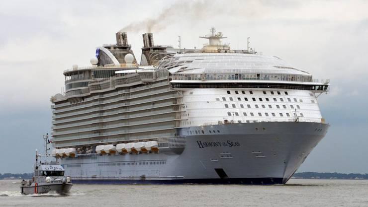 "Das weltgrösste Kreuzfahrtschiff ""Harmony of the Seas""."