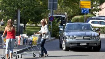 Einkaufen im Grenzort Konstanz: Neu sollen Touristen mit einem Shuttlebus ins Zentrum fahren.