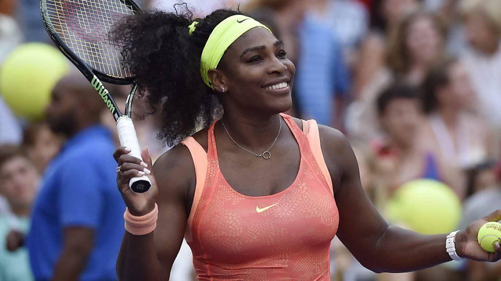 Serena Williams hatte gegen Madison Keys gut lachen