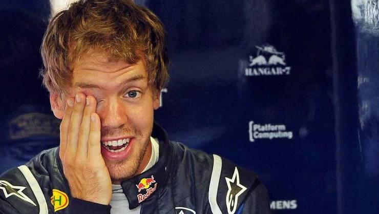 Weltmeister Vettel nach dem Training