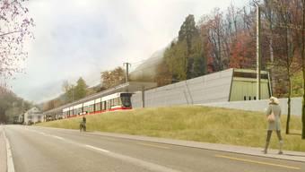 So soll der neue Bahnhof in Waldenburg aussehen