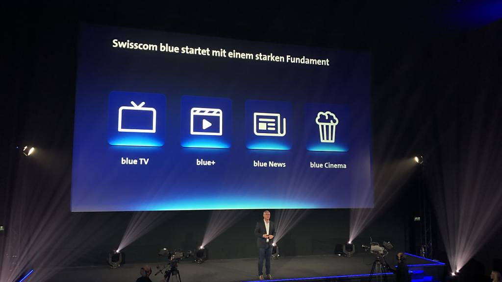 Die vier Swisscom-Marken werden unter der Marke «Blue» zusammengefasst.