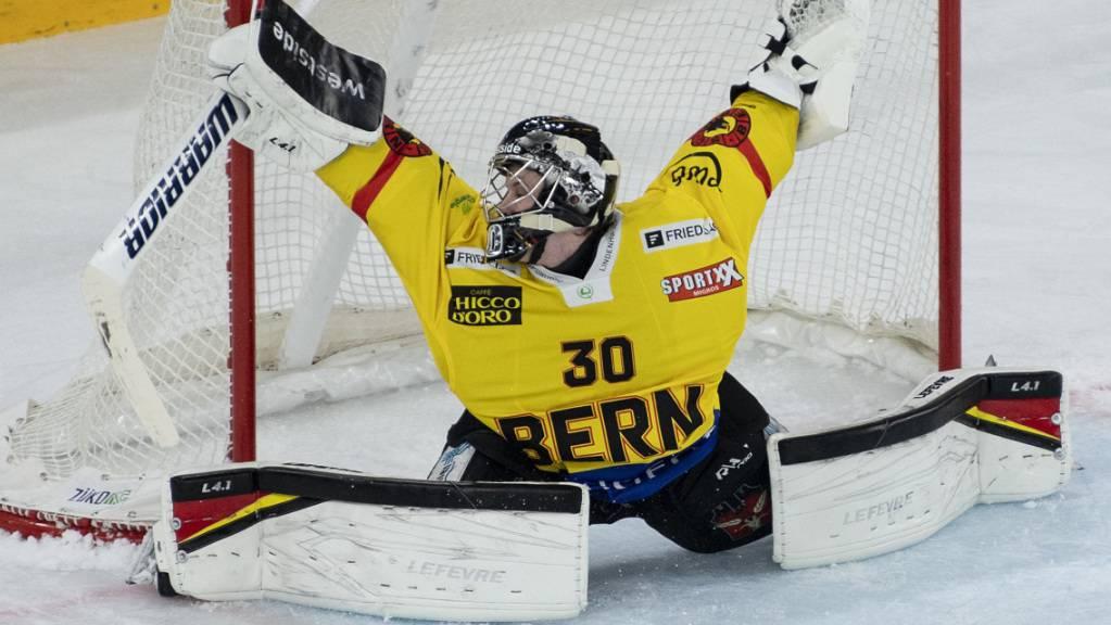 Der Berner Goalie Philip Wüthrich überzeugte bei seiner Premiere in der National League mit 42 Paraden