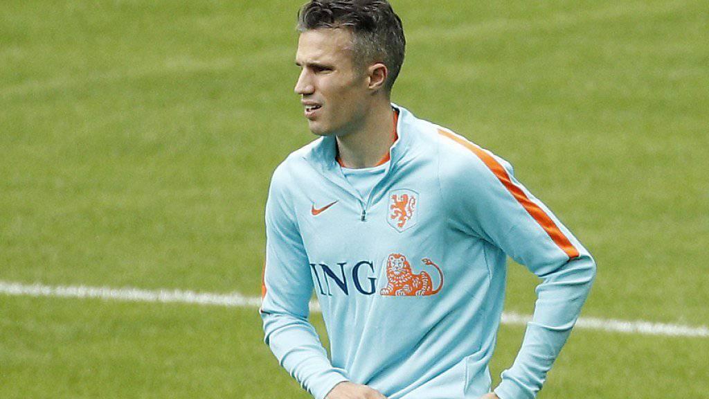 Comeback und bereits wieder verletzt: Niederlandes Rekordtorschütze Robin van Persie fällt mit einer Knieverletzung aus