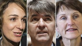 Wollen ins Berner Stadtpräsidium: Ursula Wyss, Alec von Gaffenried und Franziska Teuscher.