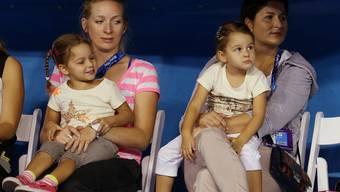 Roger und Mirka Federer mit den Zwillingen Charlene Riva und Myla Rose.