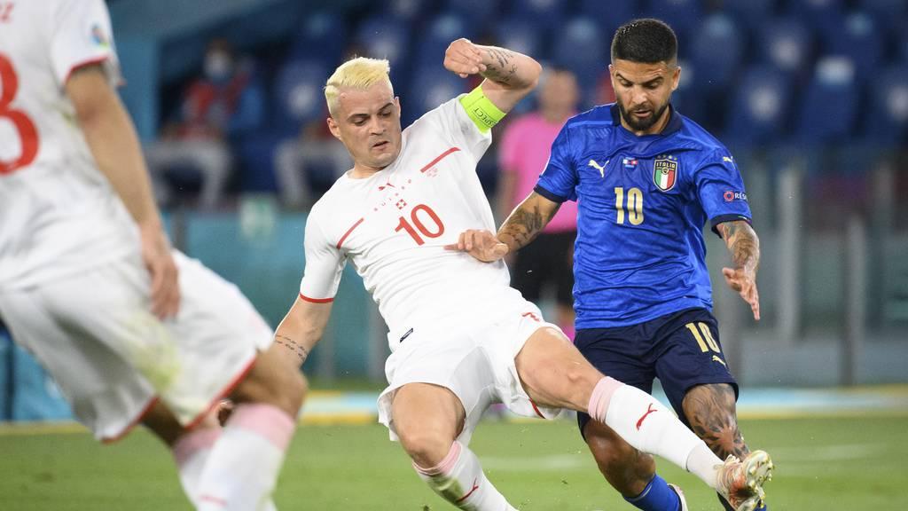Im zweiten Anlauf: Italien geht gegen Schweiz 1:0 in Führung