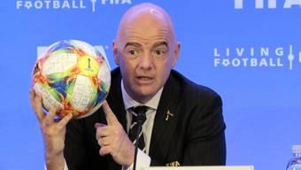 Strebt weiterhin eine WM mit 48 Mannschaften schon 2022 an: FIFA-Präsident Gianni Infantino