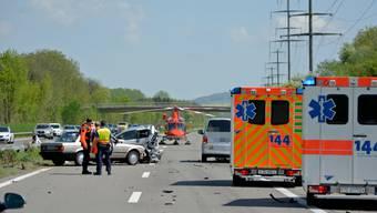 Beim Unfall auf der Autobahn A7 im Kanton Thurgau wurde eine 81-jährige Frau tödlich verletzt.