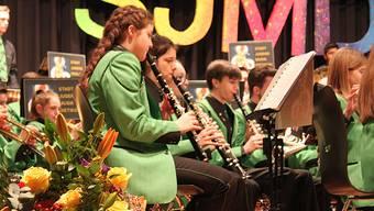Die Stadtjugendmusik Dietikon wusste im vollbesetzten Pfarreizentrum St. Agatha zu überzeugen.