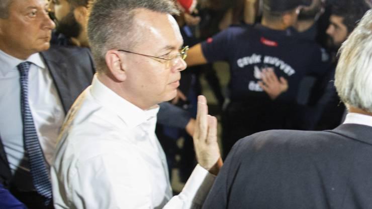 Wurde aus dem türkischen Arrest entlassen: der in der Türkei wegen Unterstützung einer Terrororganisation verurteilte US-Pastor Andrew Brunson.