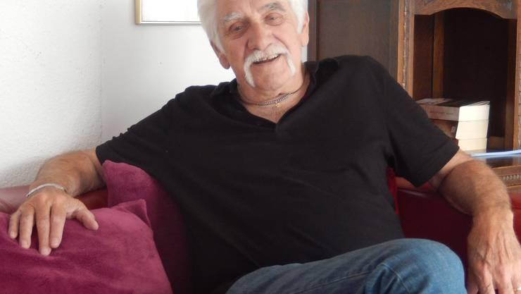 Jacky Schmutz bei sich zu Hause in Obergerlafingen.