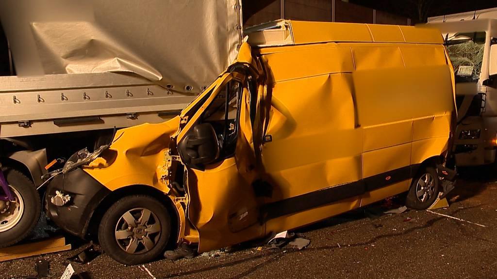 Winterthur: Mehrere Verletzte bei Auffahrkollision auf der A1