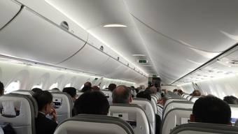Abheben mit dem Bombardier-Jet