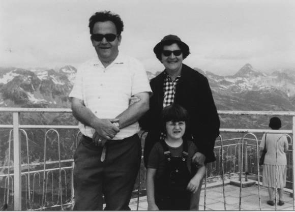 Auf dem Corvatsch, 1981, mit Ehefrau Gertrud und Tochter Angelika