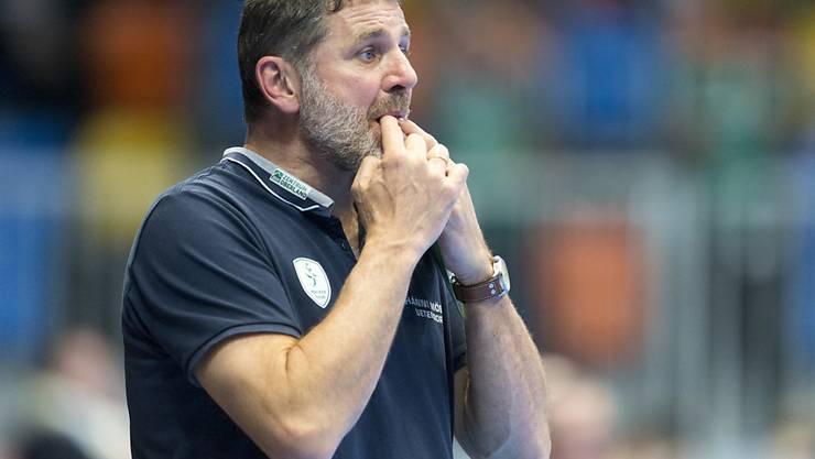 Wackers Trainer Martin Rubin hatte Mal für Mal Grund zum Verzweifeln