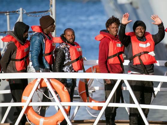 Migranten erreichen Europa.