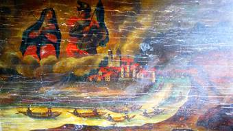 Niemand weiss, wer dieses Bild gemalt hat, das im Dorfmuseum Mumpf gezeigt wird.