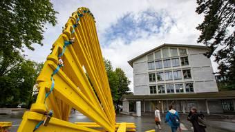 Mit der Eröffnung auf dem Kreuzackerplatz startet diese Woche die «Zart». Hier die Installation von Rainer Prohaska, «Porte Jaune».