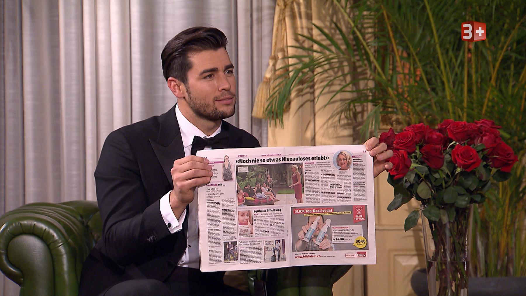 Ex-Bachelor Rafael Beutl führte durch den Abend. (Bild: Screenshot 3+)