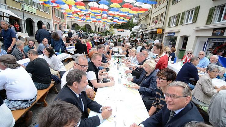 Mittagessen in der Goldgasse zum Jubiläumspreis von 1050 Rappen.